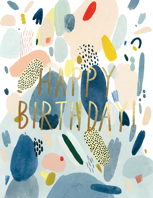 Abstract Birthday Card - 1