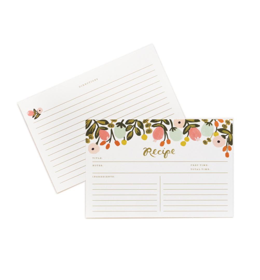Hanging Garden Recipe Cards