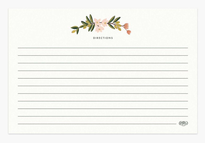 Citrus Floral Recipe Cards 2