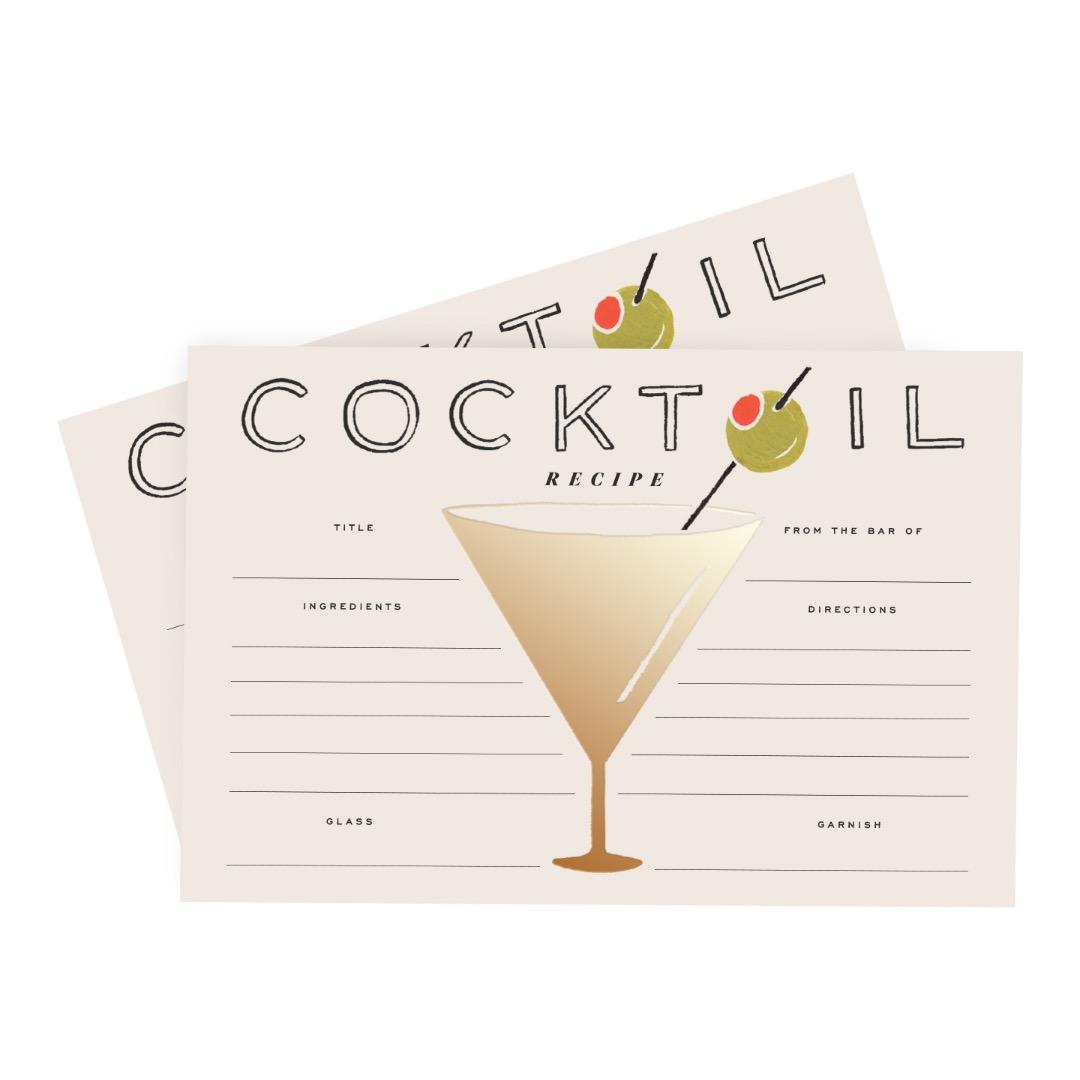 Cocktail Recipe Cards