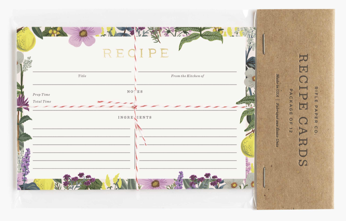 Herb Garden Recipe Cards 3