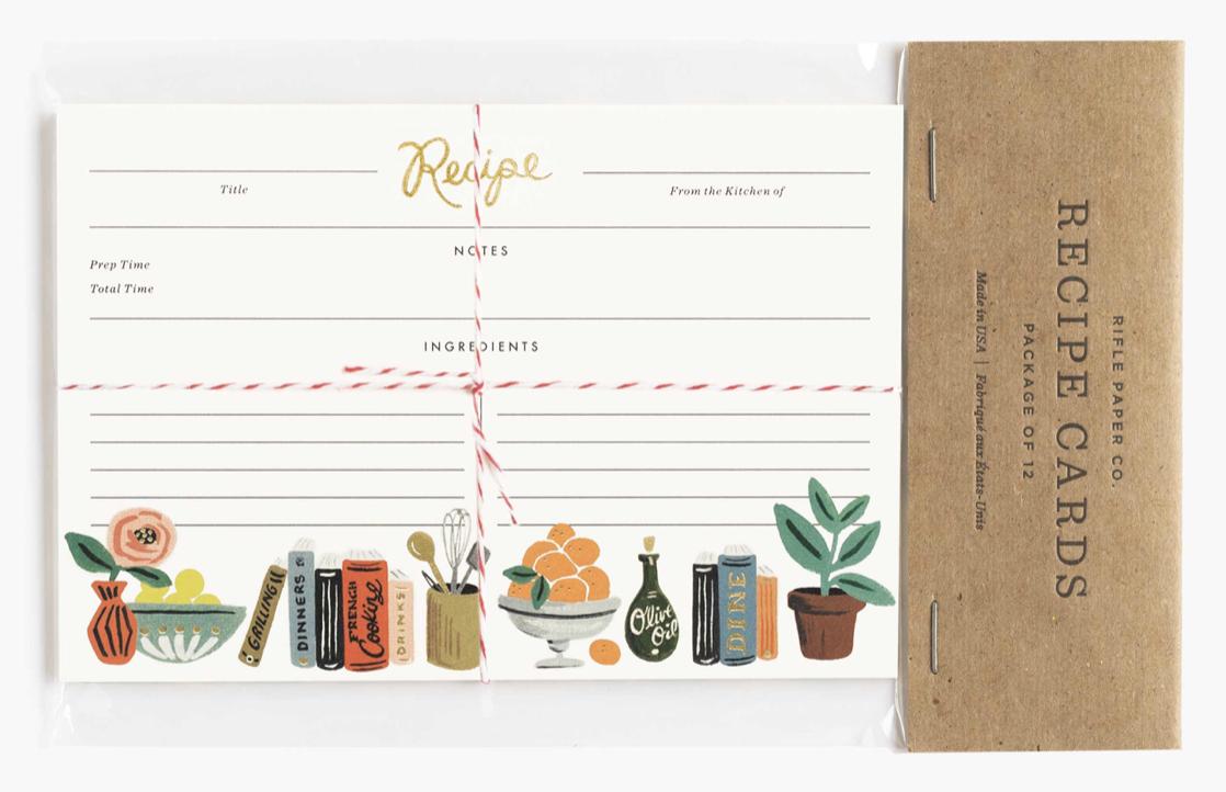Kitchen Shelf Recipe Cards 3