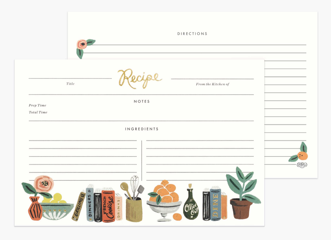 Kitchen Shelf Recipe Cards 4