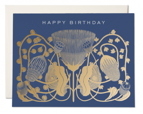 Cobalt Birthday Card