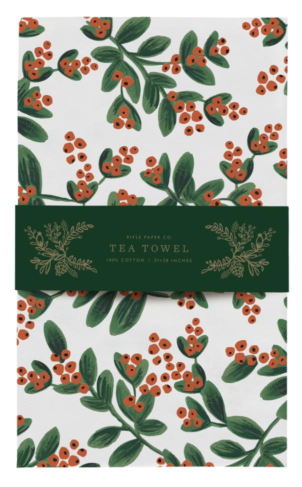 Mistletoe Tea Towel 3