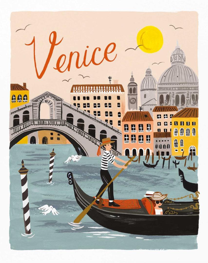 Venice Traveler Art Print