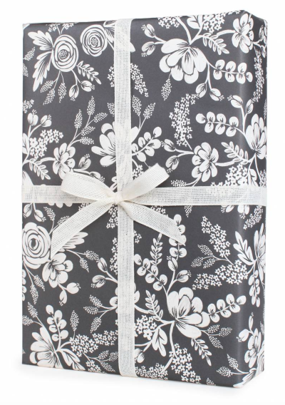 Graphite Lace Gift Wrap