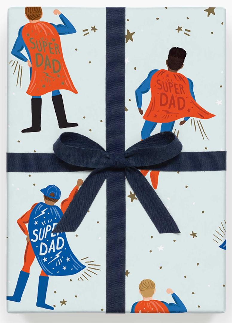 Super Dad Gift Wrap