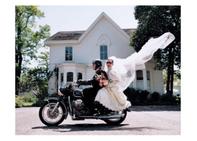 Bride/Groom/Motorcycle - Palm Press