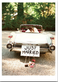 Just Married Car - Palm Press