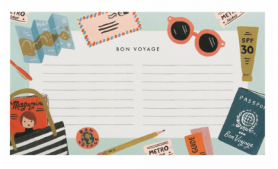 Bon Voyage Notepad - Notizblock - Rifle Paper Co.