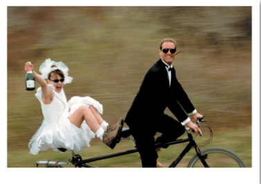 Wedding Couple Bike - Palm Press