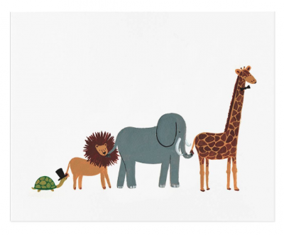 Animal Parade Art Print - Kunstdruck