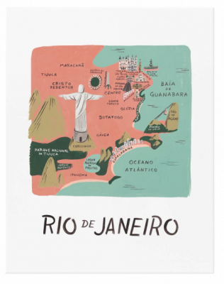 Rio de Janeiro Art Print Rifle