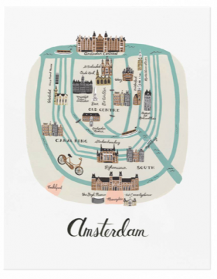 Amsterdam Art Print - Art Print