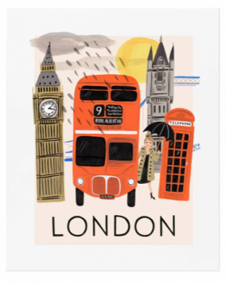 Travel London Art Print - Rifle Paper Co.
