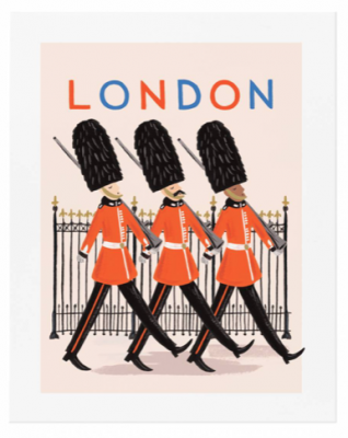 Bon Voyage London Art Print Rifle