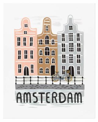 Bon Voyage Amsterdam - Art Print