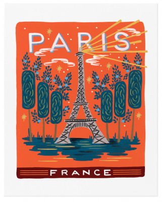 Bon Voyage Paris Art Print Rifle