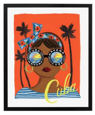 Bon Voyage Cuba Art Print Rifle