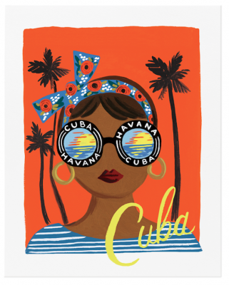 Bon Voyage Cuba Art Print - Rifle Paper Co.