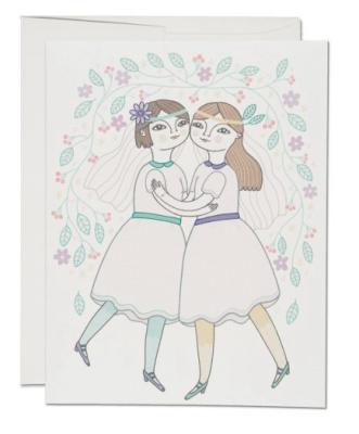 Girl Wedding - Red Cap Cards