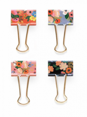 Lively Floral Binder Clips Rifle Paper