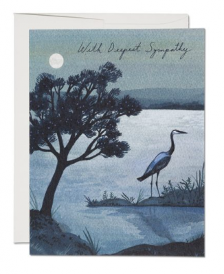 Blue Heron Card - Red Cap Cards