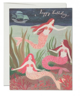 Mermaids - Red Cap Cards