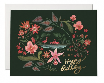 Pink Flamingos Card - Red Cap Cards