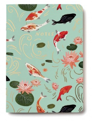 Koi Fish Notebook Red Cap Cards