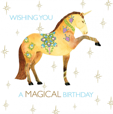 Birthday Unicorn Card - Captain Card