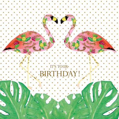 Birthday Flamingle Monstera Card Captain Card