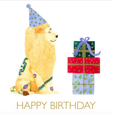 Birthday Lion Card - Captain Card