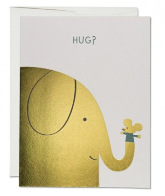 Elephant Hugs Card Red Cap Cards
