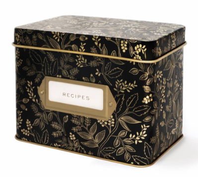 Queen Anne Tin Recipe Box - Rezeptdose