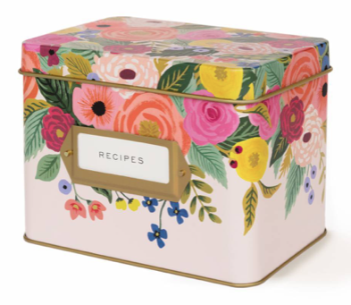 Juliet Rose Tin Recipe Box - Rezeptdose