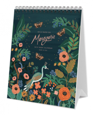 2019 Midnight Menagerie Calendar - Rifle Paper Kalender