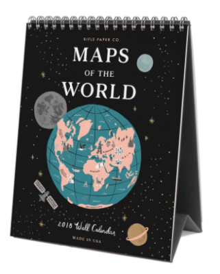 2019 Maps of the World Calendar - Rifle Paper Kalender