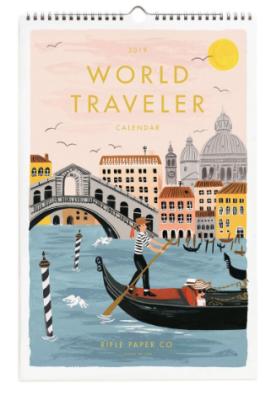 2019 World Traveler Calendar - Rifle Paper Kalender