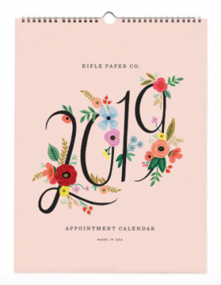 2019 Bouquet Appointment Calendar - Rifle Paper Kalender
