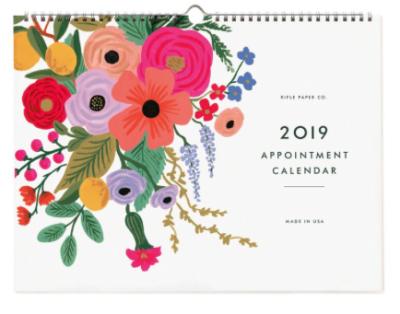 2019 Garden Party Appointment Calendar - Rifle Paper Kalender