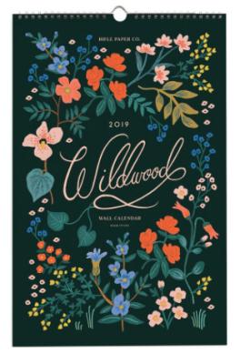 2019 Wildwood Calendar - Rifle Paper Kalender