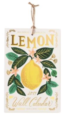 2019 Lemon Calendar - Rifle Paper Kalender