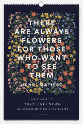 Inspirational Quote Calendar Rifle Paper Co