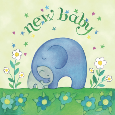New Baby Elephants Card - Captain Card Geburtskarte