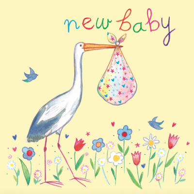 New Baby Stork Card Captain Card
