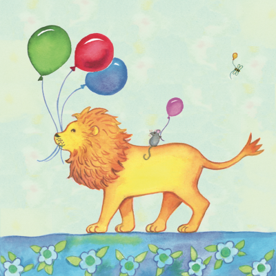 Birthday Parade Lion Card - Captain Card