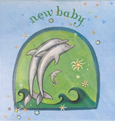 New Baby Aquamarine Card - Captain Card