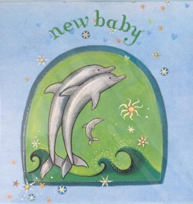 New Baby Aquamarine Card Captain Card